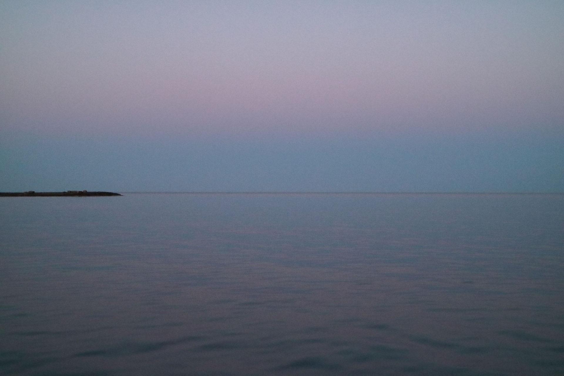 Fotografin - Daniela Hürlimann - Inselspitz Pastelltöne Meer Horizont